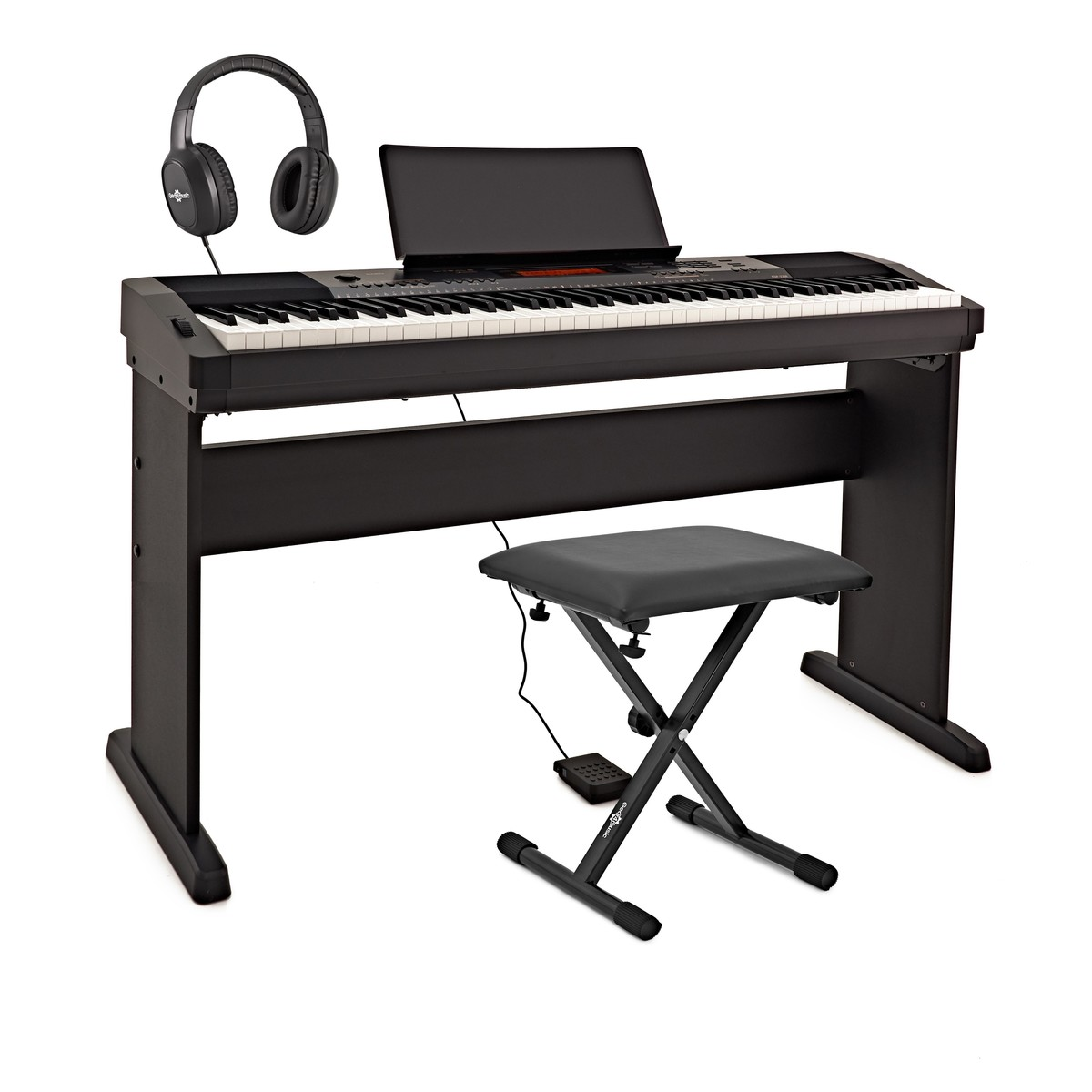 casio cdp 230r digital piano akg headphone pack black at gear4music. Black Bedroom Furniture Sets. Home Design Ideas