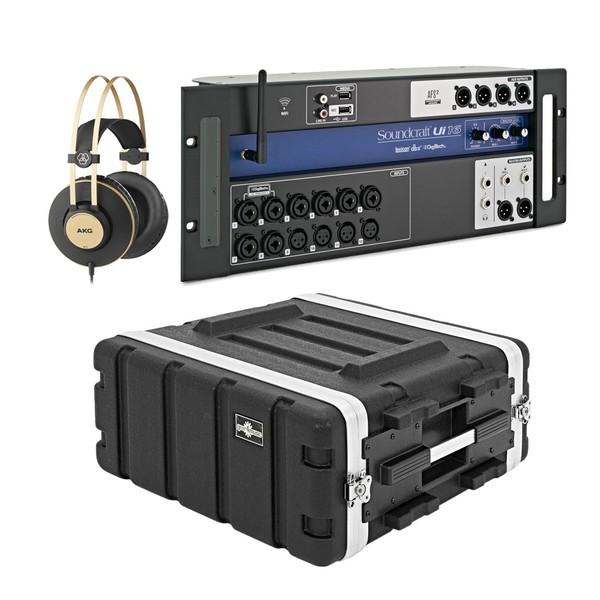 Soundcraft Ui16 Digital Rack Mixer Bundle