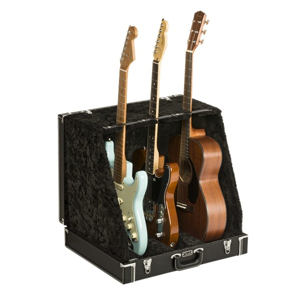 Fender Classic SRS Case Stand For 3 Guitars, Black