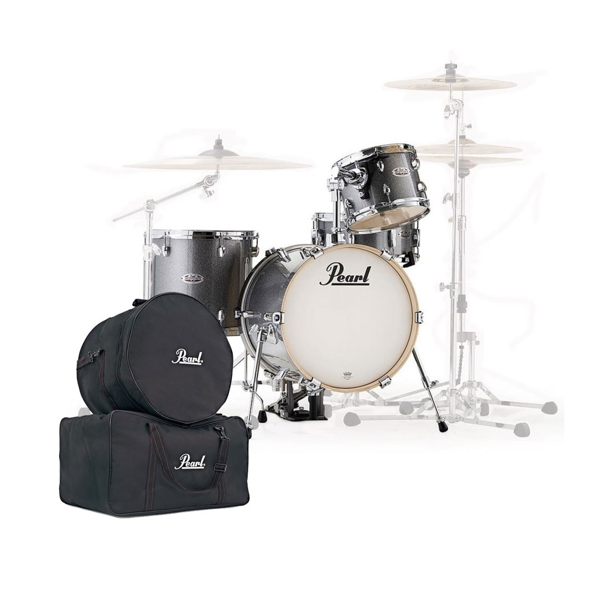 Pearl Midtown 4 Piece Shell Pack Grindstone Sparkle w/Gig Bags