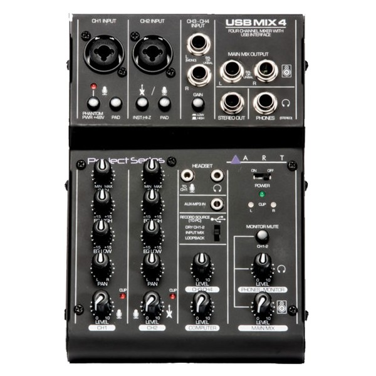 ART USBMix4 4-Channel top