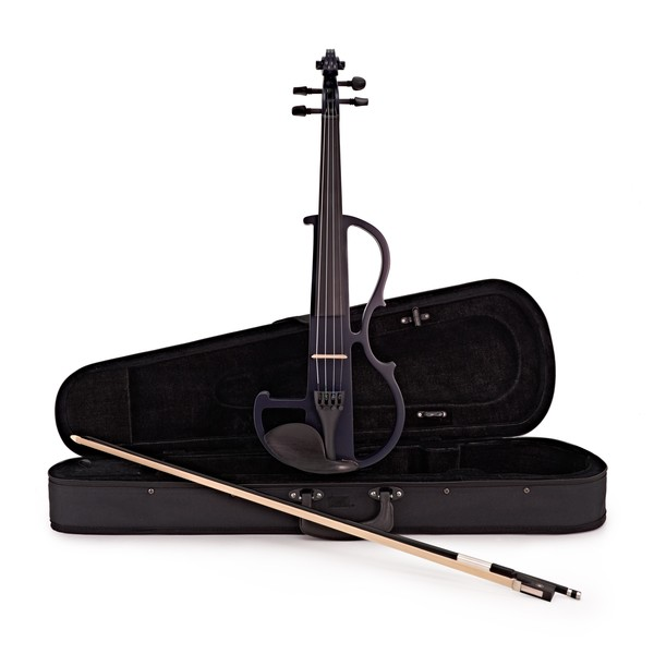 Electric Violin by Gear4music, Navy Blue