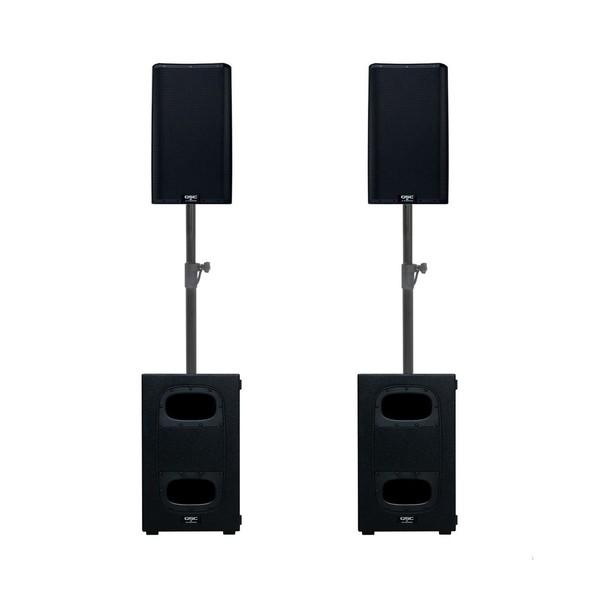 QSC K10.2 and KS112 Active Speaker Bundle