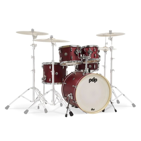 PDP Spectrum Series 20'' 5pc Fusion Shell Pack, Red