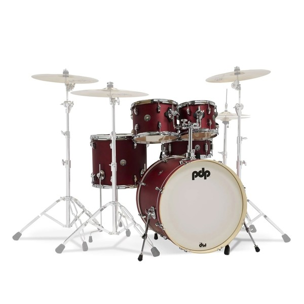 PDP Spectrum Series 22'' 5pc Shell Pack, Red
