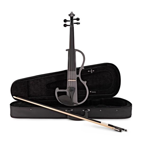 Electric Violin by Gear4music, Carbon Fibre Effect main