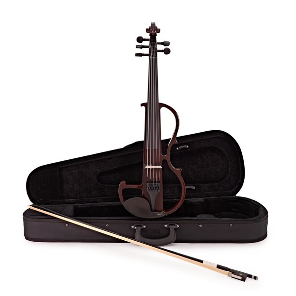 5 String Electric Violin by Gear4music, Trans Red