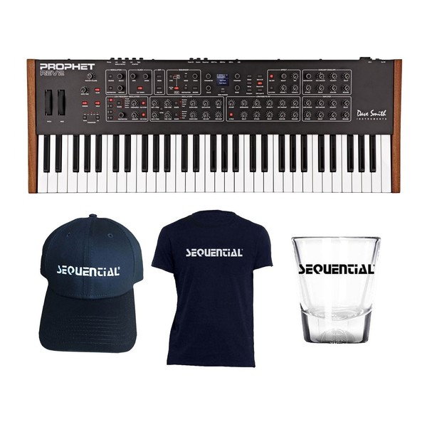 Dave Smith Instruments Prophet Rev2 8 Voice with Free Merch - Full Bundle