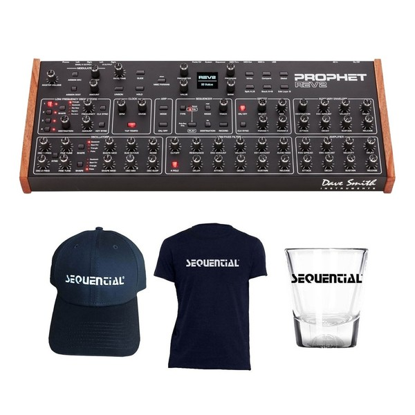 Dave Smith Prophet Rev2 16 Voice Module with Free Merch - Full Bundle