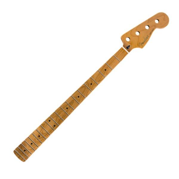 Roasted Maple Jazz Bass Neck 20 Medium-Jumbo Frets, MP Fretboard