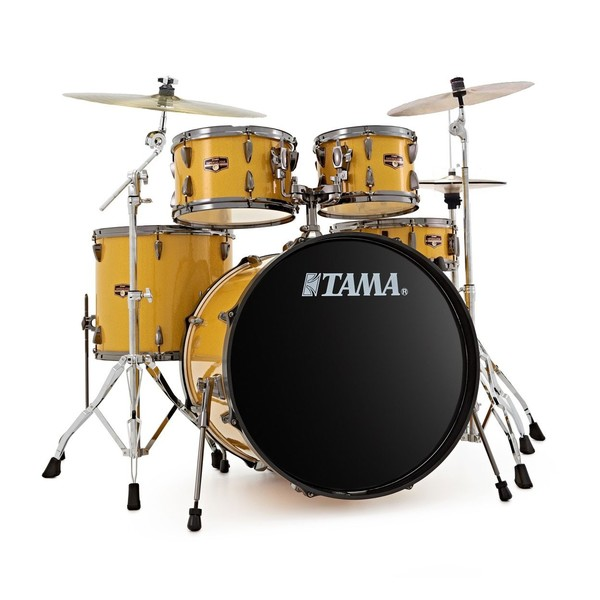 Tama Imperialstar 5pc Complete Set w/Cymbals, Golden Yellow Sparkle