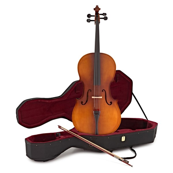 Student 4/4 Size Cello w/ Case, Antique Fade, by Gear4music - B-Stock