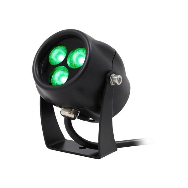LEDJ Aspect Exterior Green Feature Light, 9W, Lit