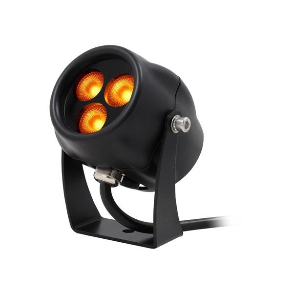 LEDJ Aspect Exterior Amber Feature Light, 3W, Lit