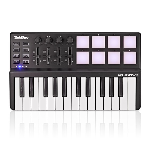 SubZero MINI-COMMAND Controller and MIDI Keyboard