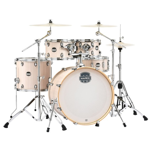 Mapex Mars 22'' 5pc Rock Fusion Drum Kit, Bonewood - main image