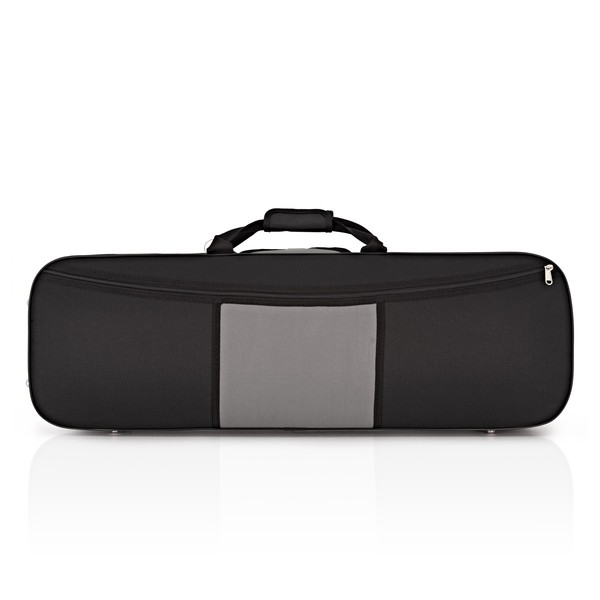 GSJ Two Tone Oblong Violin Case 4/4 Black/Grey