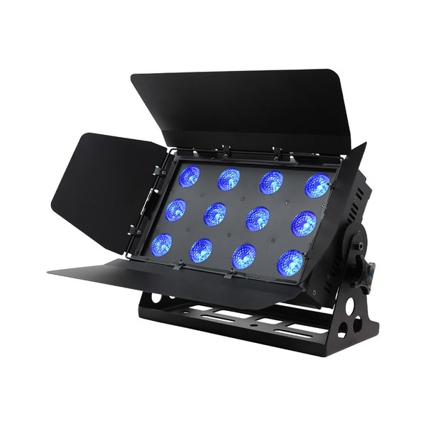 LEDJ Q Colour HEX 6-Colour LED Wash Light, Front Angled, Lit