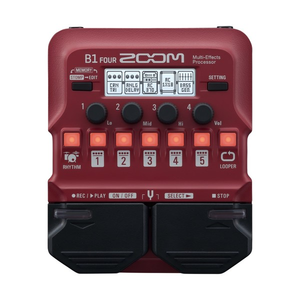 Zoom B1 FOUR Bass Multi-Effects Pedal