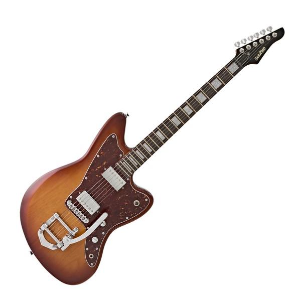 SubZero Rogue Vibrato Electric Guitar, Tobacco Sunburst