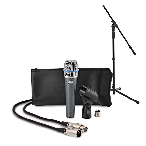 Shure Beta 57A with Boom Mic Stand and 6m Cable