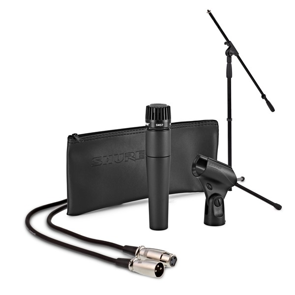 Shure SM57 Dynamic Instrument Mic with Boom Mic Stand and 6m Cable - Full Package