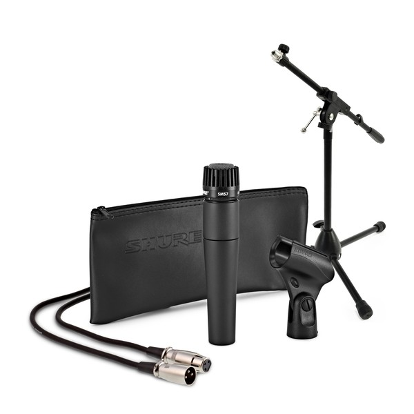 Shure SM57 Dynamic Instrument Mic with Low Mic Stand and 6m Cable - Full Package