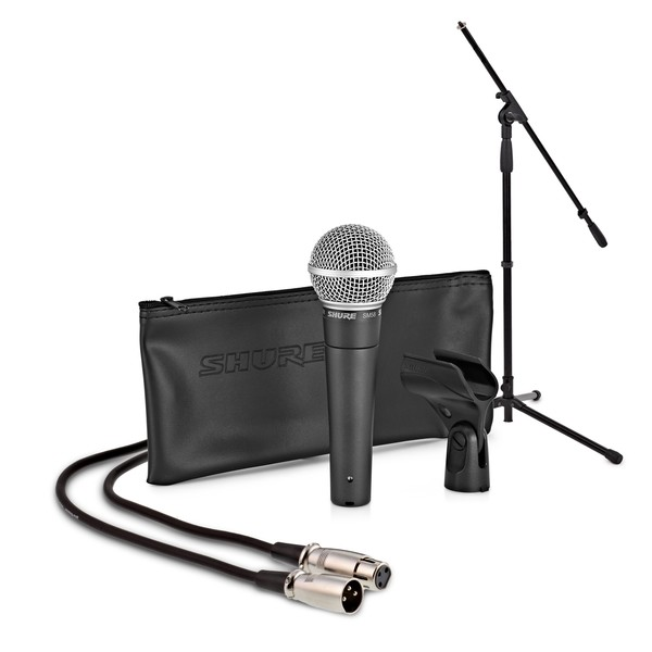 Shure SM58 Dynamic Vocal Mic with Stand and Cable - Full Package