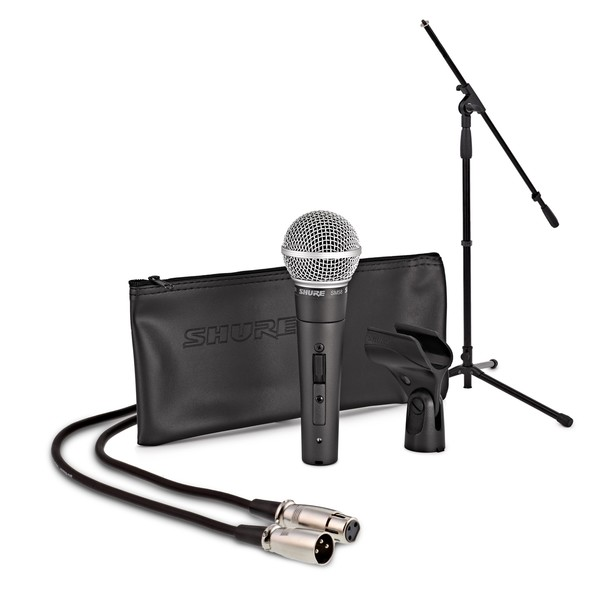 Shure SM58S With Boom Mic Stand and 6m Cable
