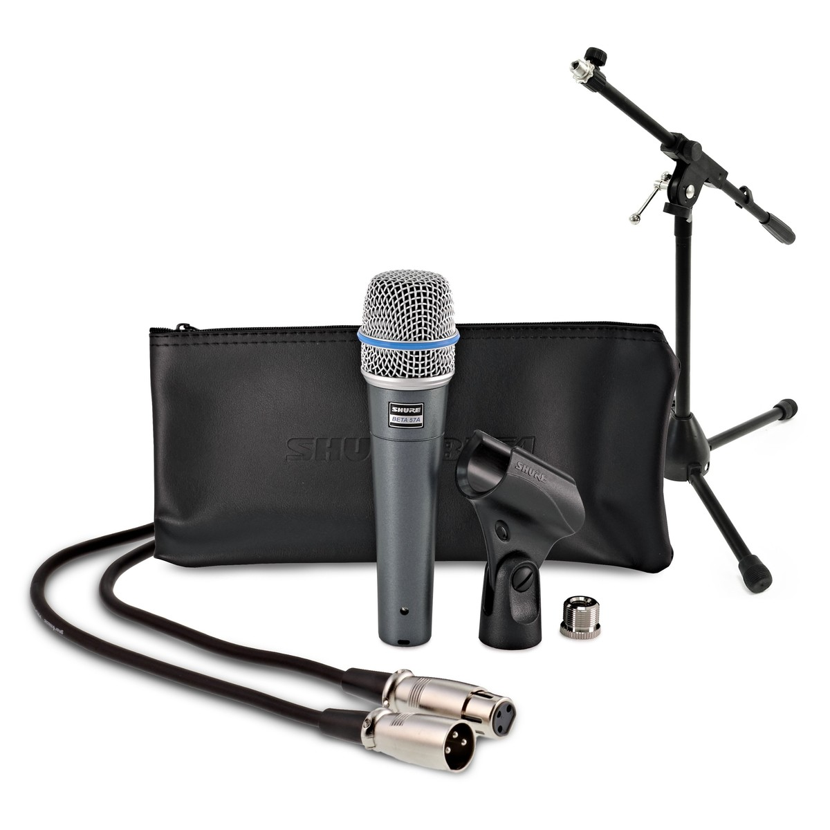 Click to view product details and reviews for Shure Beta 57a Dynamic Instrument Mic With Low Mic Stand And 6m Cable.