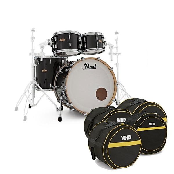 Pearl Session Studio Select 4pc 22'' Shell Pack w/Bags,Piano Black - main image
