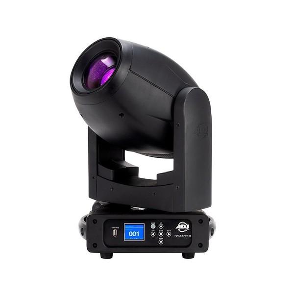 ADJ Focus Spot 4Z LED Moving Head, Black, Angled Left