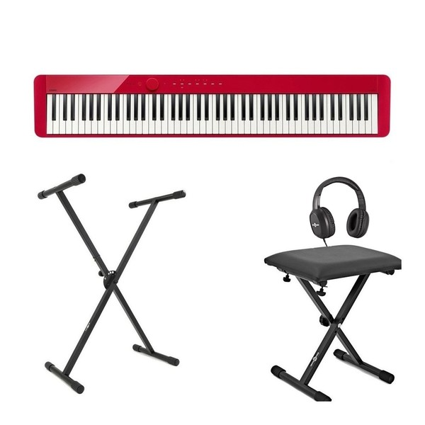 Casio PX S1000 Digital Piano X Frame Package, Red