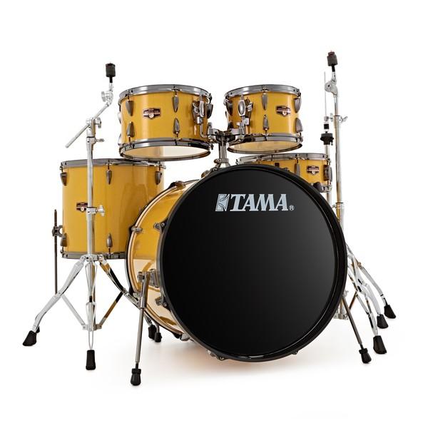 Tama Imperialstar 5pc Drum Kit w/ Hardware, Golden Yellow Sparkle