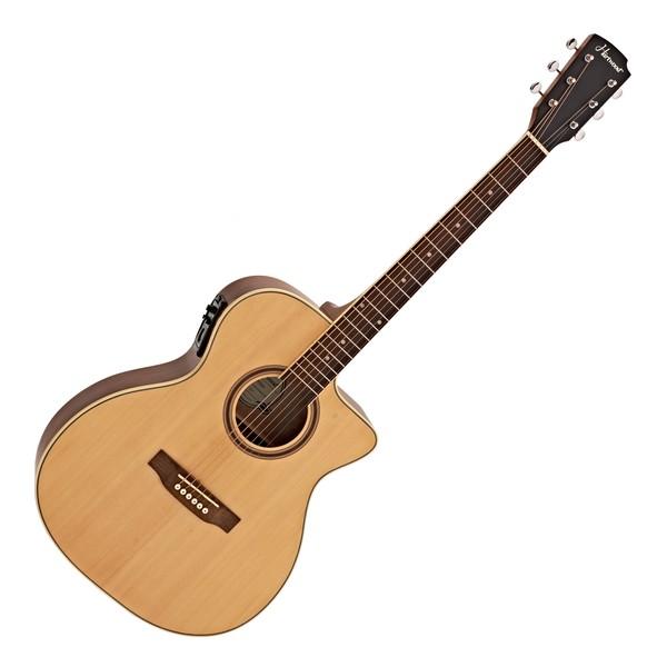 Hartwood Prime Single Cutaway Electro Acoustic Guitar, Natural
