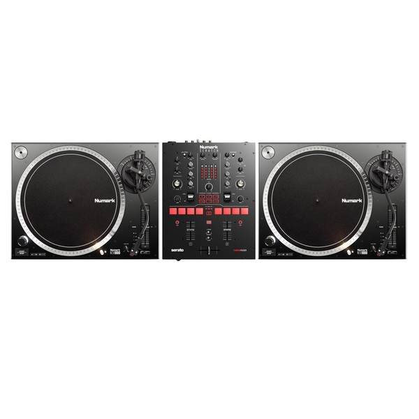 Numark NTX1000 Turntable and Scratch Mixer Bundle - Full Bundle