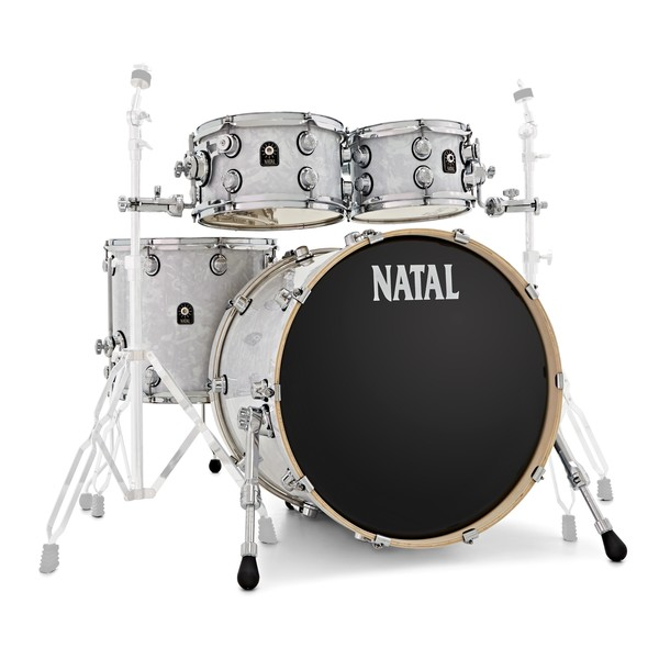 Natal Cafe Racer 22'' 4pc Shell Pack, White Swirl main