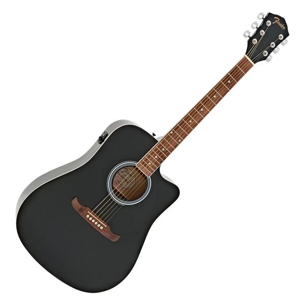 Fender FA-125CE Dreadnought Electro Acoustic WN, Black main