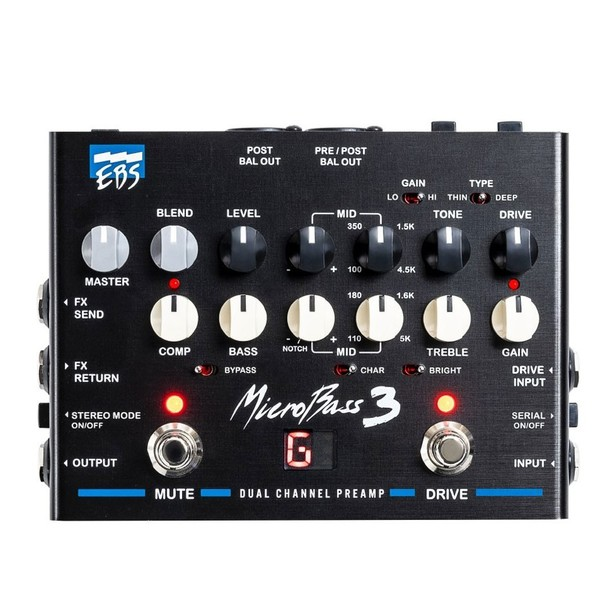 EBS MicroBass 3 Bass Outboard Preamp - Front