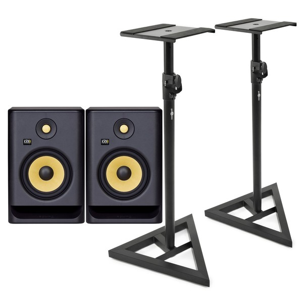 KRK ROKIT RP7 G4 Studio Monitors with Stands - Full Bundle