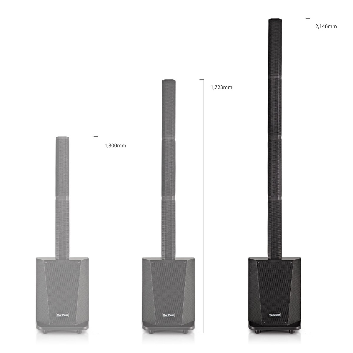 SubZero L410X DSP Column PA System with Bluetooth