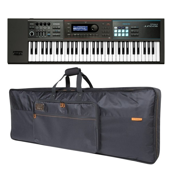 Roland Juno-DS61 61 Key Portable Synthesizer with Bag - Full Bundle
