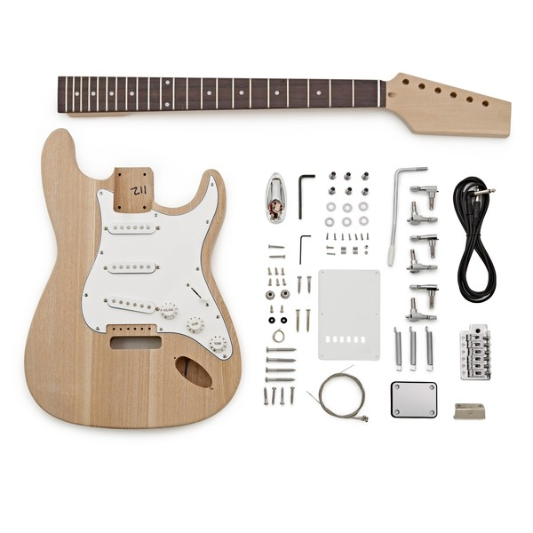 LA Electric Guitar DIY Kit, Ash Body