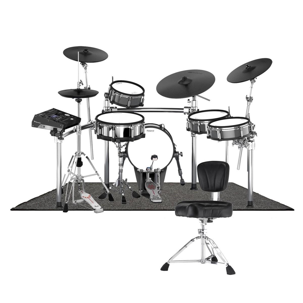 Roland TD-50KV V-Drums Premium Pearl Bundle