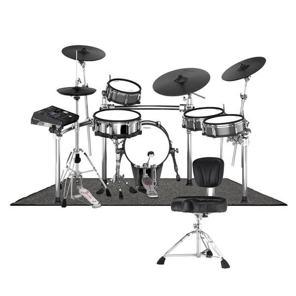 Roland TD-50KV V-Drums Premium Pearl Bundle - main image