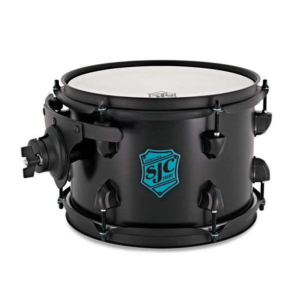 SJC Drums Pathfinder Rack Tom 10x7 Midnight Black Satin, Black HW main