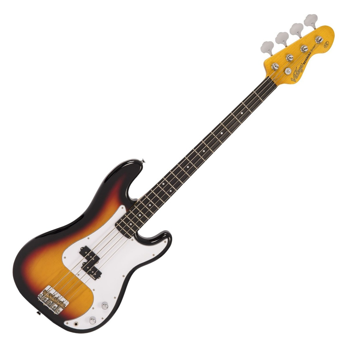 Click to view product details and reviews for Vintage V4 Reissued Bass Sunburst.