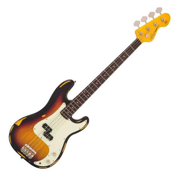 Vintage V4 Icon Bass, Distressed Sunset Sunburst