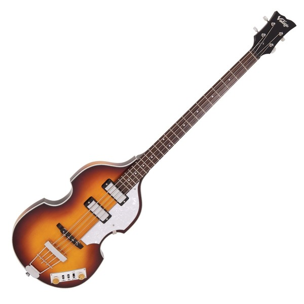 Vintage Violin Reissued Bass, Antique Sunburst - Front