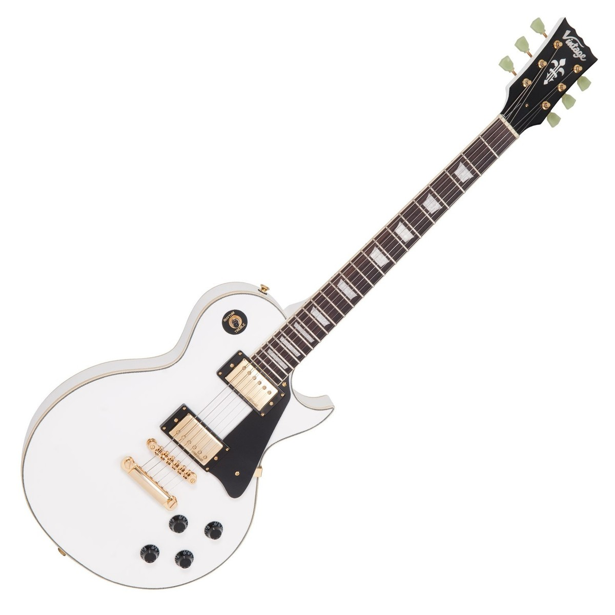 Click to view product details and reviews for Vintage V100 Reissued Arctic White W Gold Hardware.